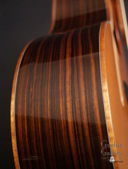 used McPherson 4.5 Ebony guitar side detail