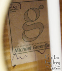 Greenfield C2 Nylon Jazz Guitar label