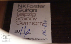 NK Forster Guitar label