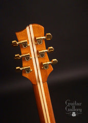 Olson SJ guitar headstock back