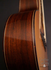 Olson SJ guitar side detail