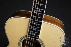 Collings OM3 guitar with engraved fretboard