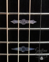 Collings guitar with engraved fretboard