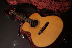 Olson SJ guitar inside custom case