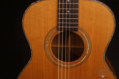 Olson SJ guitar abalone purfling and rosette