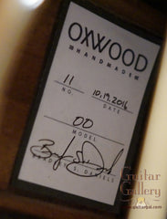 Oxwood guitar label