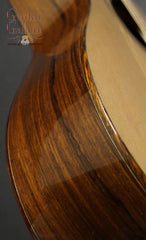 Oxwood guitar side detail