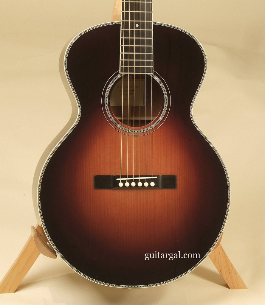 Flammang Guitar: Burgundy Sunburst EL35
