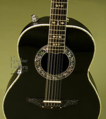 Ovation Guitar: Black 1658