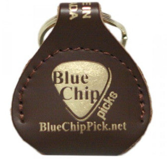 Blue Chip Accessories: Brown Leather Pick Pouch