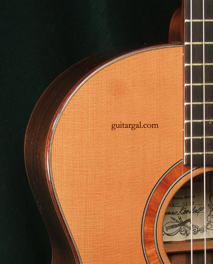 Goodall Guitar: Used Red Cedar Top RCX Cross Over