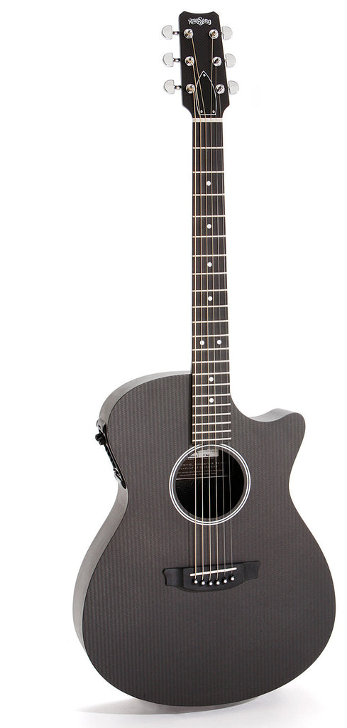 RainSong Graphite Guitars: Black Graphite S-OM1000N2 on SALE