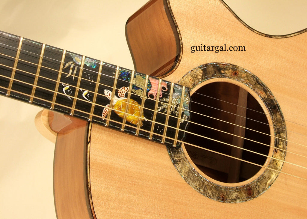 Laurie Williams Guitar: Premium Ancient Karuri Tui with Sea Turtle Inlay