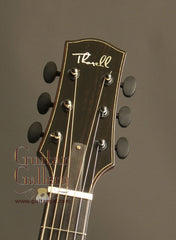 Ryan Thorell archtop guitar headstock