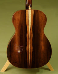 Brazilian rosewood back on Hewett OM guitar