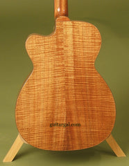 BC Kingston guitar koa back