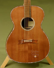Hewett guitar with dark cedar top
