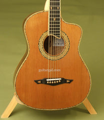 Petros Guitar: Used Figured Claro Walnut CELT FS-12 Fret
