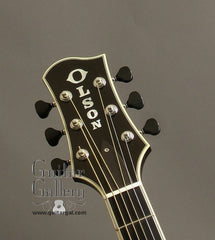 Black Olson D Guitar headstock