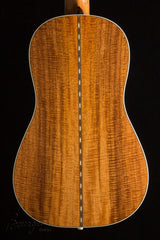 Bourgeois Piccolo Parlor guitar back