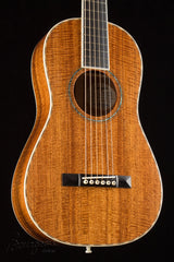 Bourgeois Piccolo Parlor guitar figured mahogany top