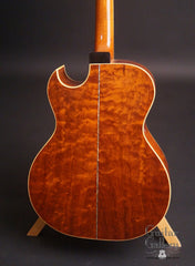 Hewett GC cutaway Guitar Plum Pudding Mahogany back