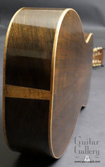 Robert Anderson Parlor guitar back end view