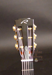 Ryan Abbey Parlor Guitar Arts & Crafts headstock