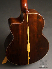 Ryan Nightingale Brazilian rosewood guitar back