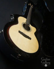 Ryan Nightingale guitar inside custom case