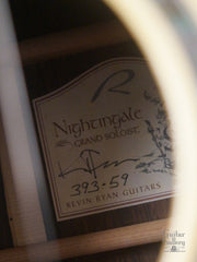 Ryan Nightingale guitar interior label