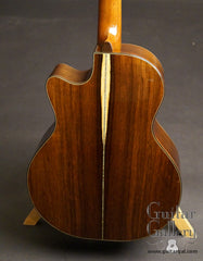 Ryan Mission GC Brazilian rosewood guitar back