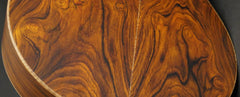 low back view of Lowden cocobolo guitar