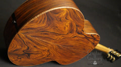 back angle shot Lowden cocobolo guitar