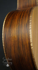Lowden S35 CocoBolo guitar side detail