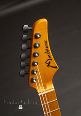 Marchione solid body electric guitar headstock