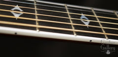 Taylor 814-BCE 25th anniversary guitar fretboard side view