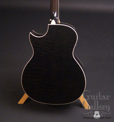 Taylor DDSM black guitar figured maple back