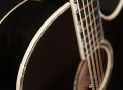 Taylor DDSM black guitar detail