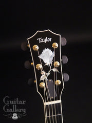 Taylor DDSM black guitar headstock