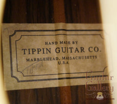 Tippin 000-12c guitar label