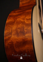 Rasmussen model C TREE mahogany guitar side detail