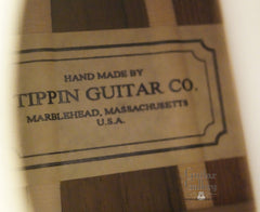 Tippin 000-12T guitar label