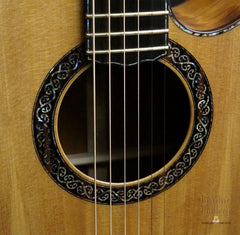 Laurie Williams guitar with celtic rosette