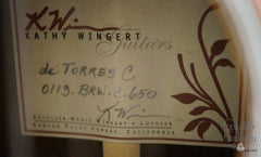 Wingert classical guitar label