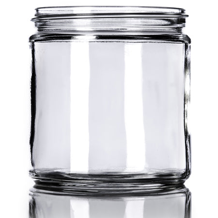 MoYo Natural Labs 16 oz clear glass straight-sided round jar with 89-400 neck finish, Wide Mouth, Metal Airtight Lid, USDA Approved BPA-Free Dishwasher Safe Canning Jar for Fermenting, Sun Tea, Kombucha, Dry Food Storage, Pack of 12, Clear
