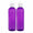 MoYo Natural Labs Turret Spout 8 oz Empty Liquid Bottle with Adjustable Dispenser (Pack of 2, Purple)