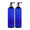 MoYo Natural Labs 8 oz Pump Dispenser, Empty Soap and Lotion Bottle with Locking Cap, BPA Free PET Plastic Containers for Essential Oils/Liquids (2 pack, Cobalt Blue)