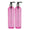 MoYo Natural Labs 8 oz Pump Dispenser, Empty Soap and Lotion Bottle with Locking Cap, BPA Free PET Plastic Containers for Essential Oils/Liquids (2 pack, Candy Pink)