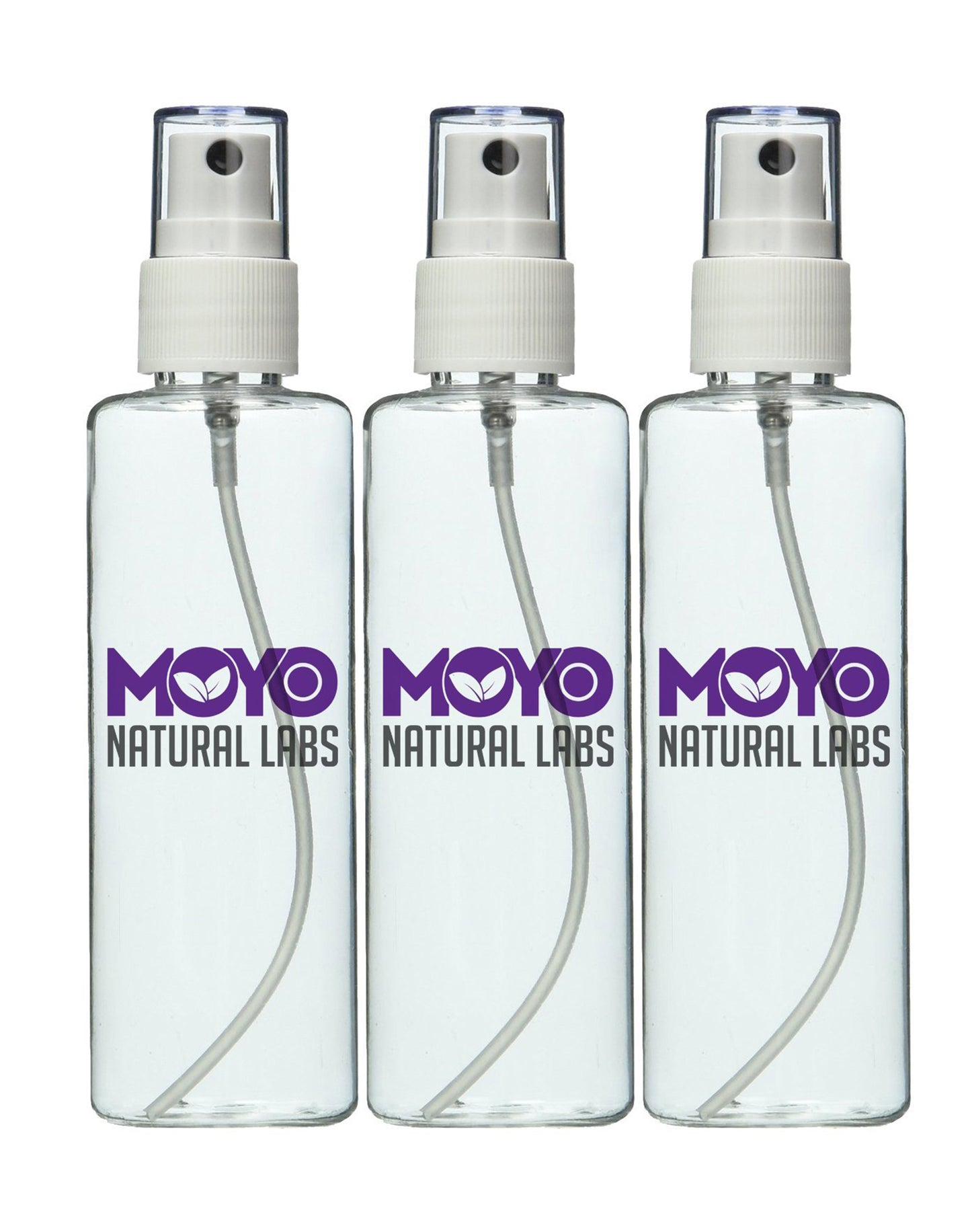 MoYo Natural Labs Large Durable Essential Oil mist bottle Travel Bottle 3.4 oz Misting Spray Bottle with Elegant Silver Tone Cap TSA Approved and BPA Free Made in USA Qty 3